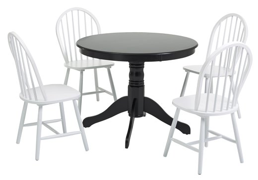 Billigt Koksbord Ikea : svart koksbord  arboga stol svart inhandla fagerstrom bord 107 4