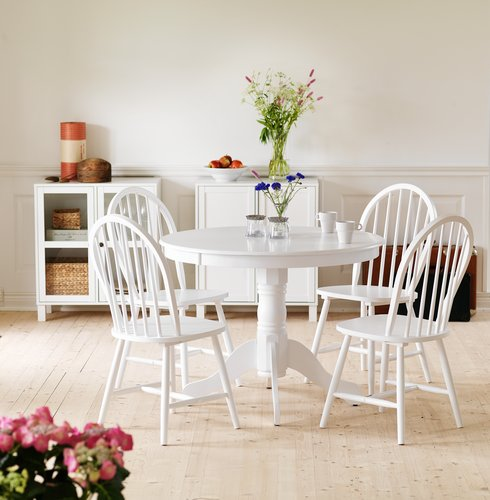 Dining Table ASKEBY D100cm White JYSK