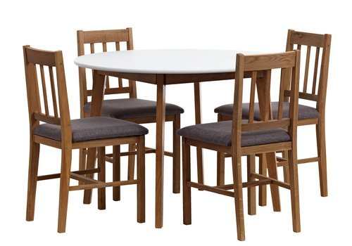 Table JEGIND 4 chairs STENSVED JYSK : 74558 from jysk.co.uk size 500 x 350 jpeg 29kB