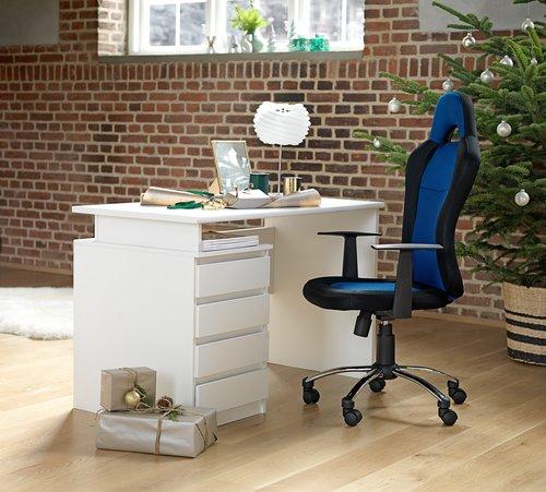 skrivbord jysk ~ skrivbord mesinge vit  jysk