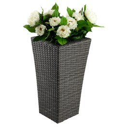 Donica BLOMMOR 35x35x70 rattan szary