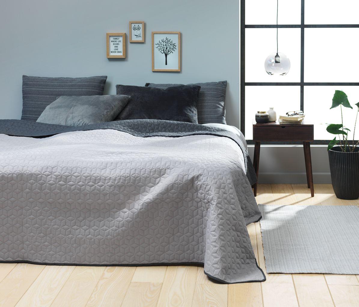 sengetæppe jysk Sengetæppe ROSENTRE 220x240 grå/mørkegrå | JYSK sengetæppe jysk