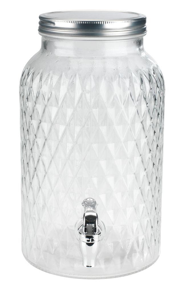 vattenbehållare med kran glas