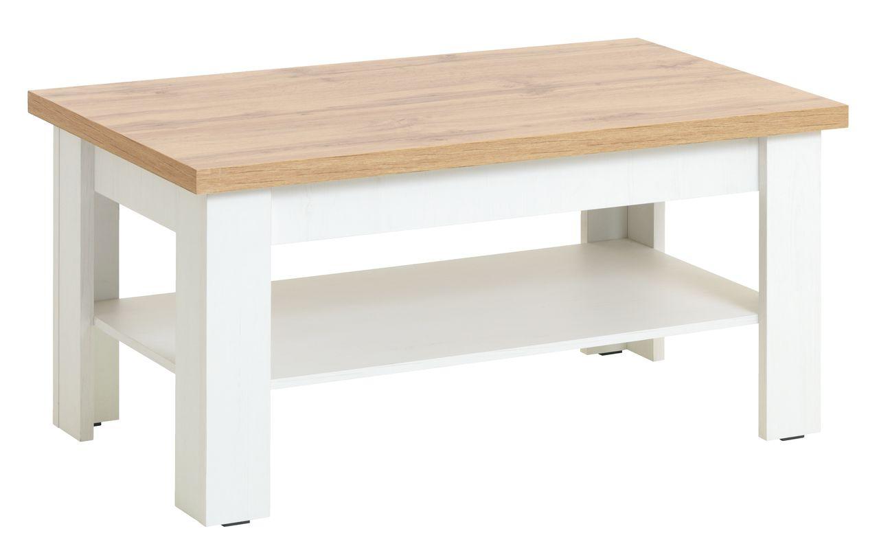Salontafel Wit Met Eiken.Salontafel Markskel 60x110 Wit Eiken Jysk