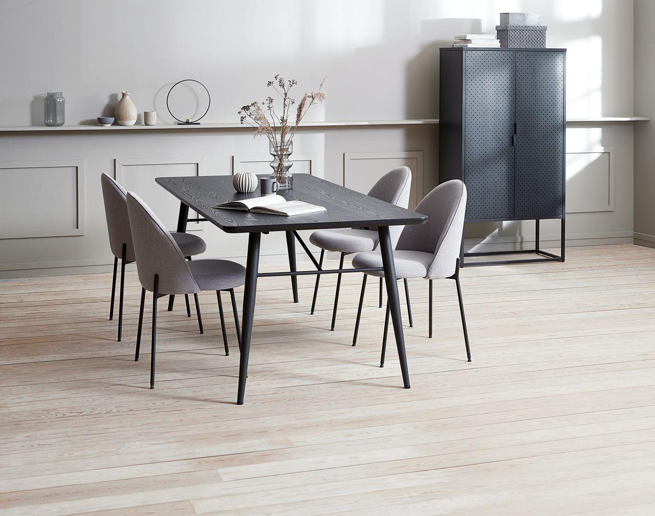 Spisebord RADBY 90x200 svart | JYSK
