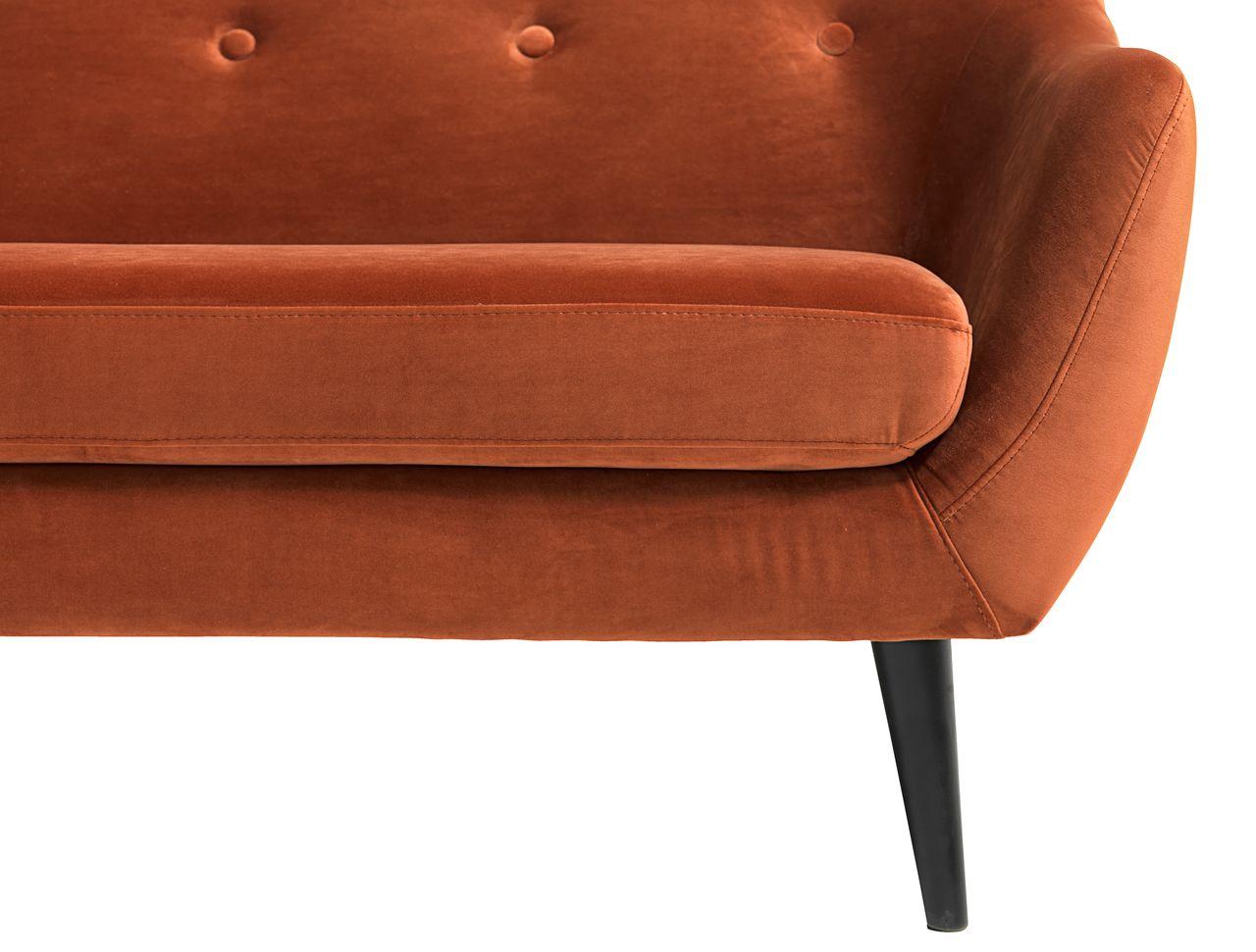 Soffa EGEDAL 2,5 sits sammet orange