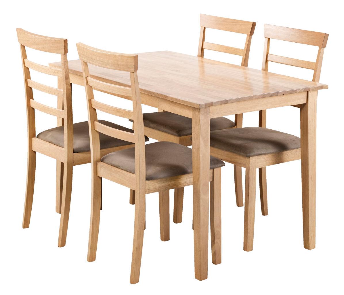 92163ad975241 Stôl BJERT + 4 stoličky BJERT farba buka