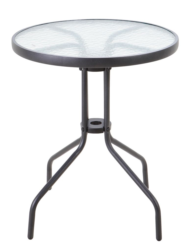 Bistrotafel blokhus 60 staal glas zw jysk for Kaffeehaustisch marmorplatte