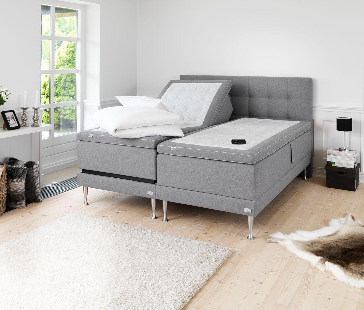 Tidsmæssigt HØIE 200 reg.bar seng 90x200 ramme grå | JYSK UL-52