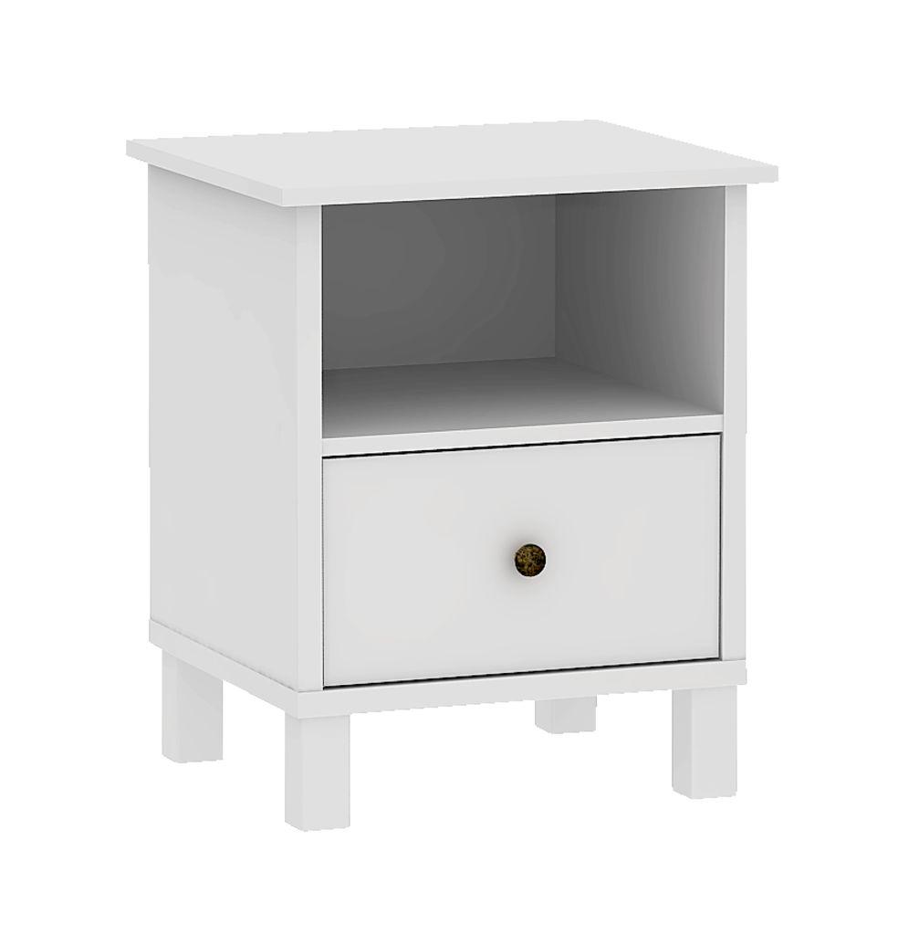 Yöpöytä Nielstrup 1 Laatikko Valkoinen Jysk