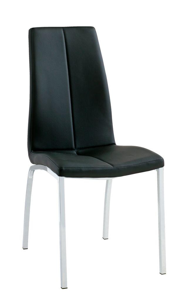 Matbordsstol HAVNDAL svart krom JYSK