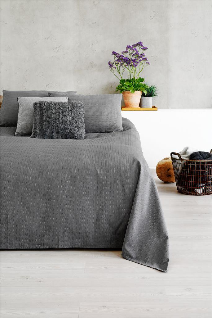 jysk sengetæppe Sengetæppe ALVIK 160x220 grå | JYSK jysk sengetæppe