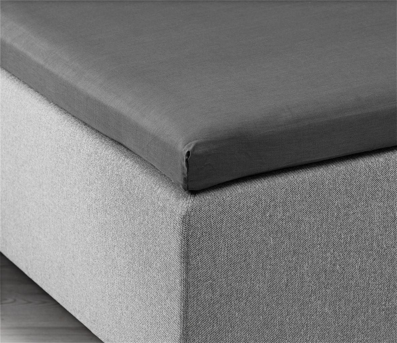 hoeslaken topper 90x200 grijs kronborg jysk. Black Bedroom Furniture Sets. Home Design Ideas