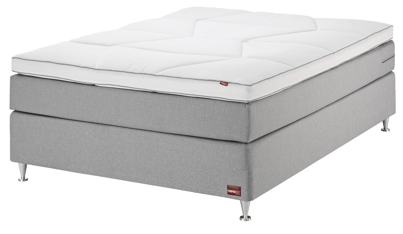 boxspring 140x200 temprakon extra hard jysk. Black Bedroom Furniture Sets. Home Design Ideas