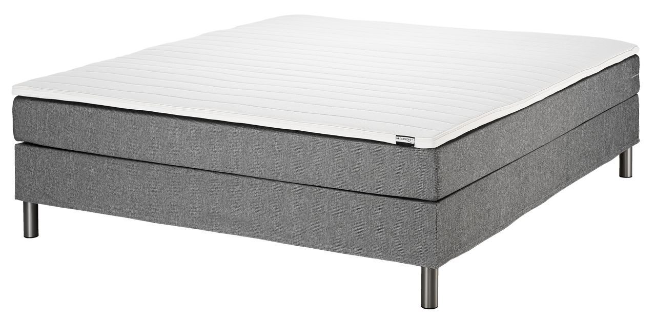 boxspring 120x200 basic c5 grijs jysk. Black Bedroom Furniture Sets. Home Design Ideas