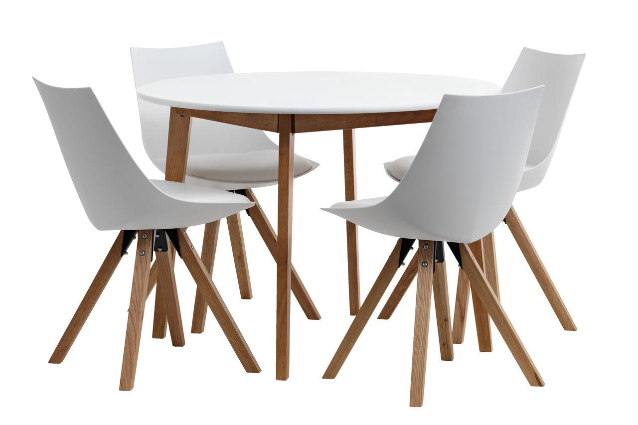 Table Jegind 4 Chaises Ore Blanc Ch Ne Jysk