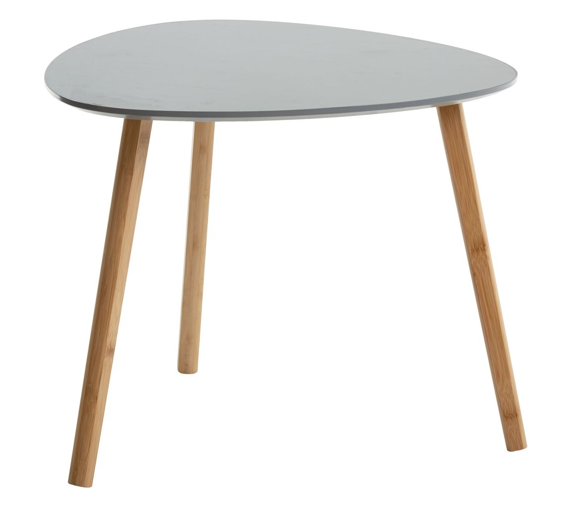 End Table TAPS 55x55 Grey Bamboo