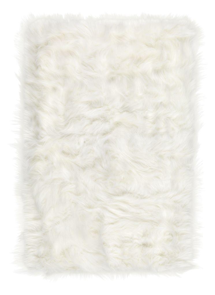 Sztuczna skóra owcza HORN 60x90 biała