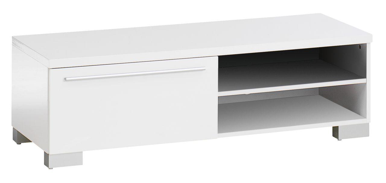 Tv bench aakirkeby 1 drawer high gloss jysk for Meuble tv jysk