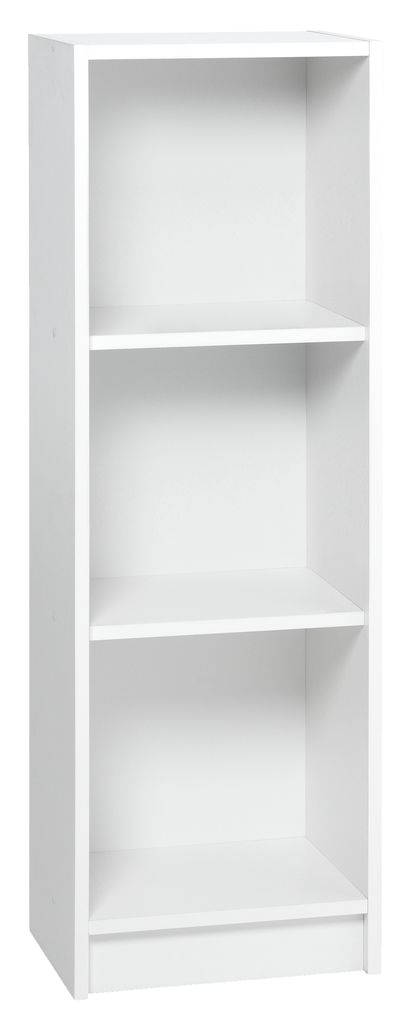 Bookcase Horsens 3 Shelves Slim White