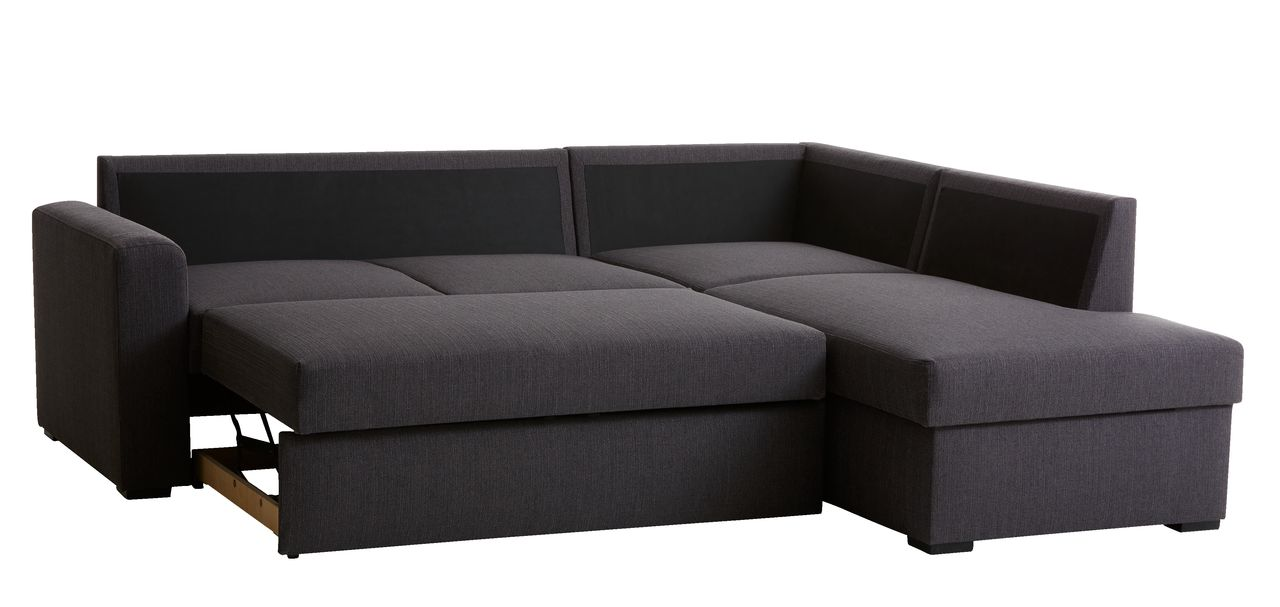 Picture of: Sovesofa Chaiselong Bedsted Gra Jysk