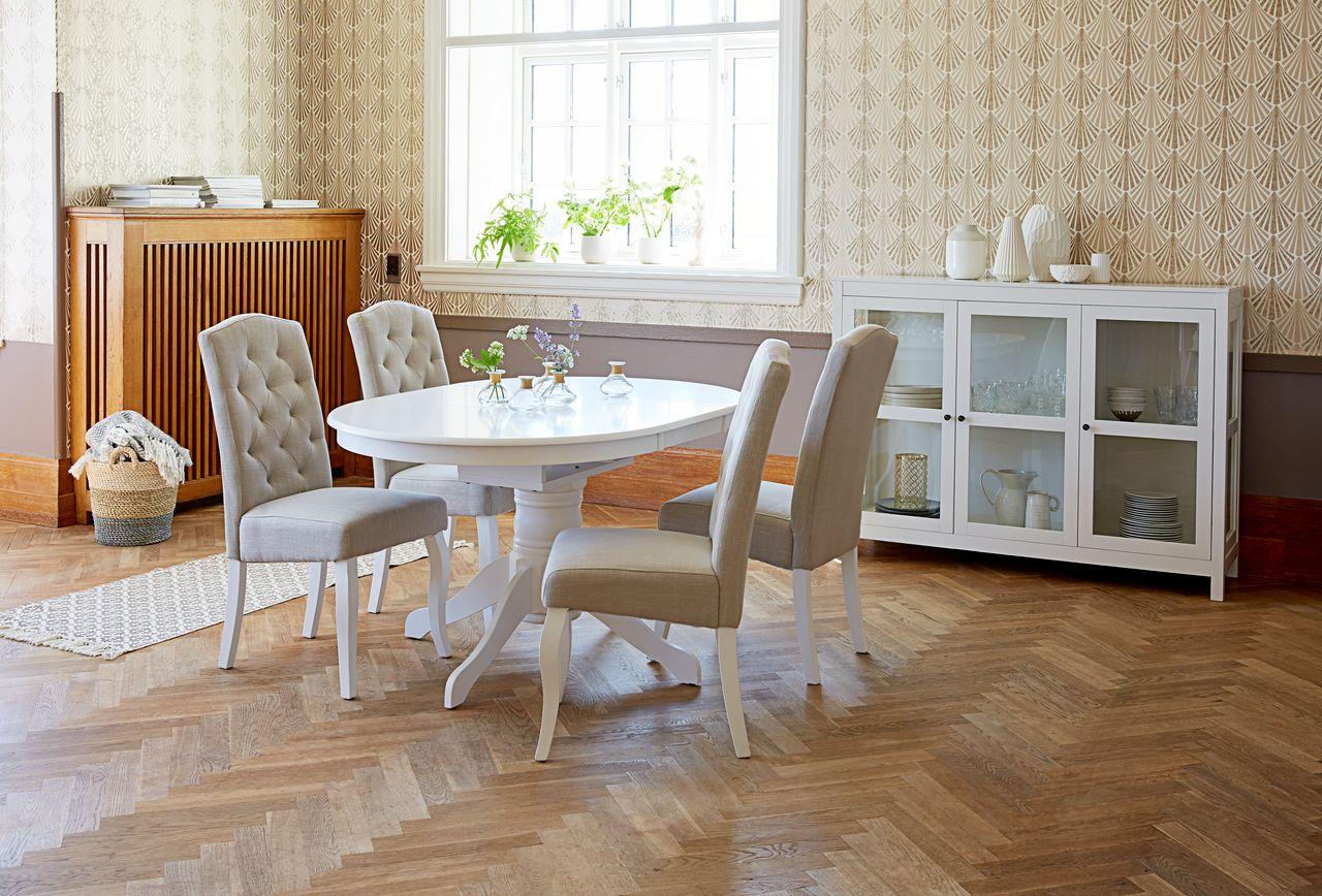 Spisebord ASKEBY Ø100 hvit   JYSK