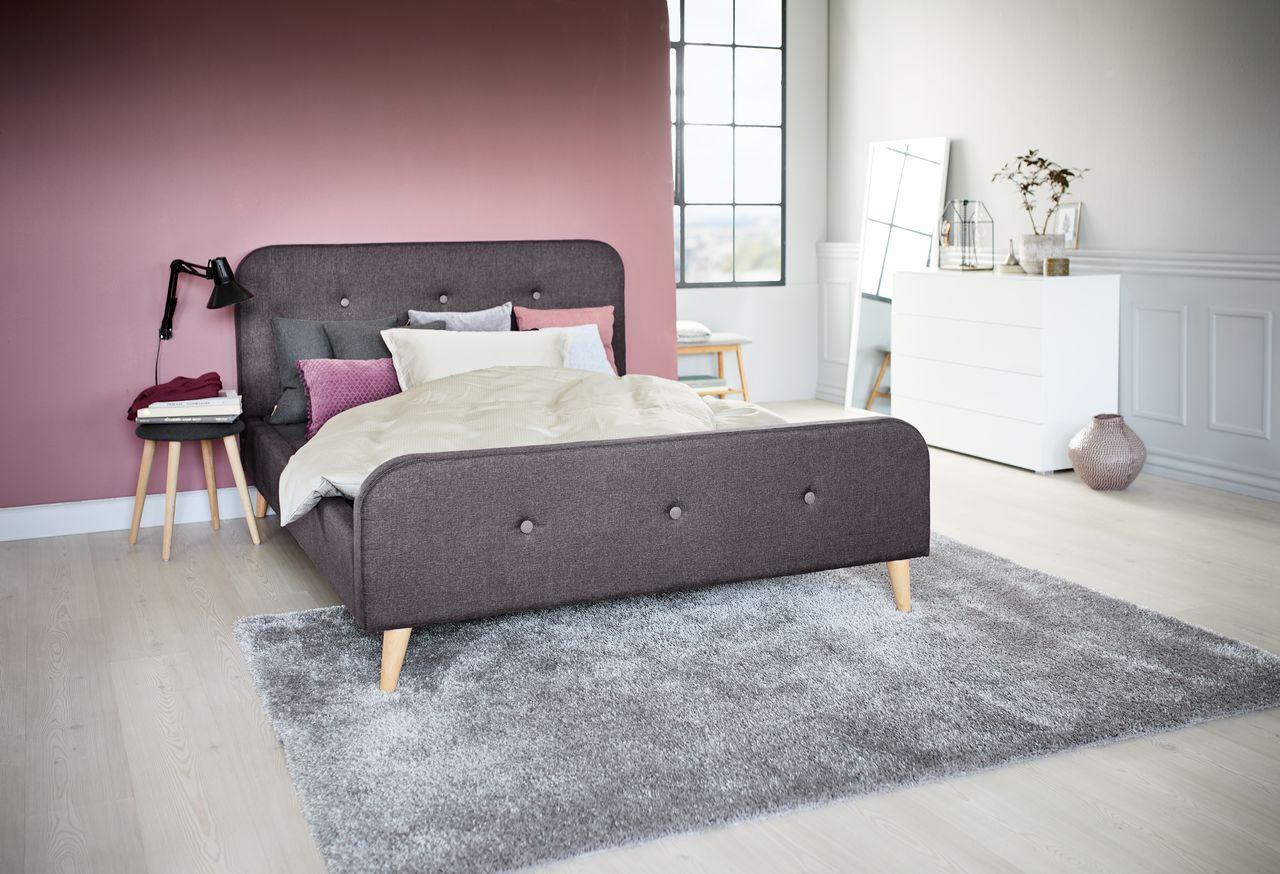 Rama łóżka Kongsberg 160x200cm Szary