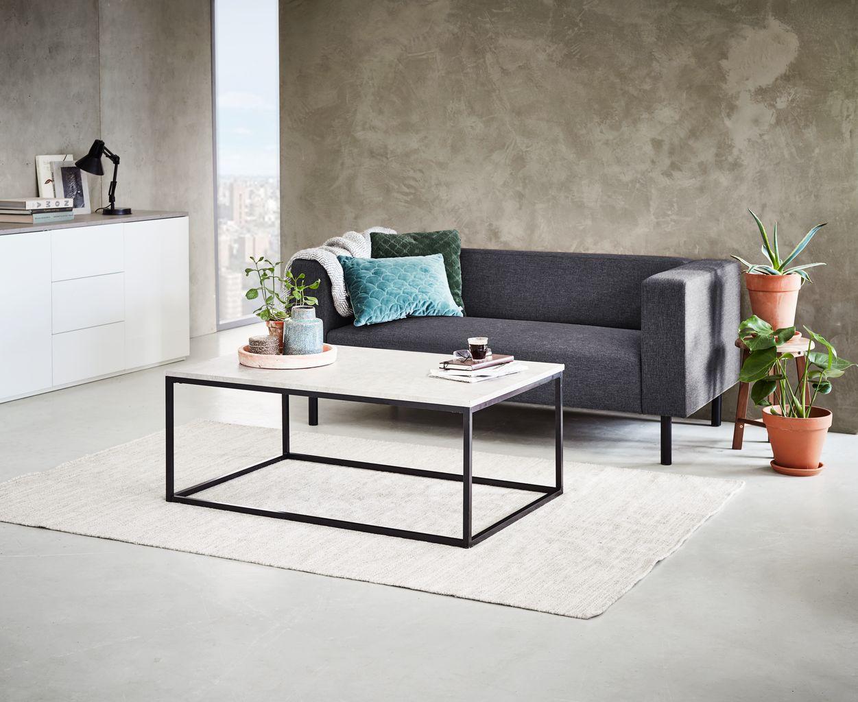 Soffbord DOKKEDAL L115 betongsvart | JYSK