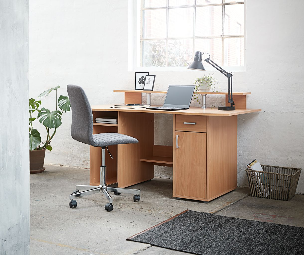 Bureaustoel ABILDHOLT d.grijschroom | JYSK