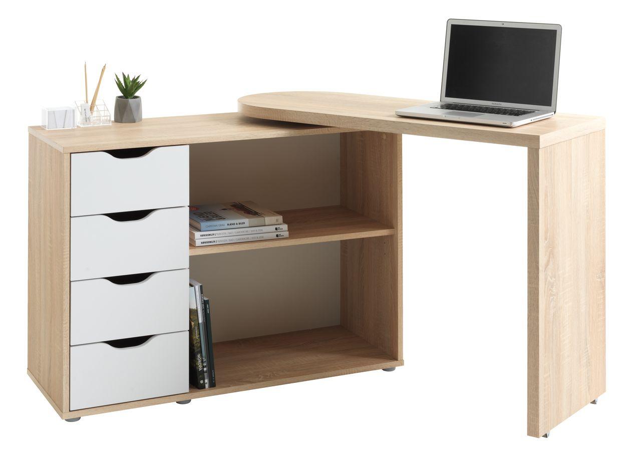 Desk langager 41 107x107 165 oak white jysk
