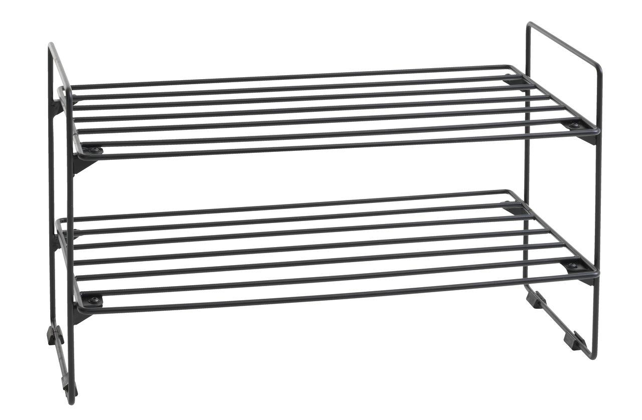 Forskellige Skoreol GAMBY 2 hylder sort | JYSK QW29