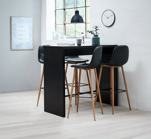 Bar stool JONSTRUP black/oak