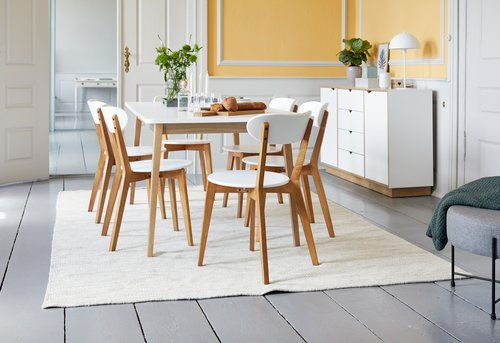 Dining chair JEGIND oak/white
