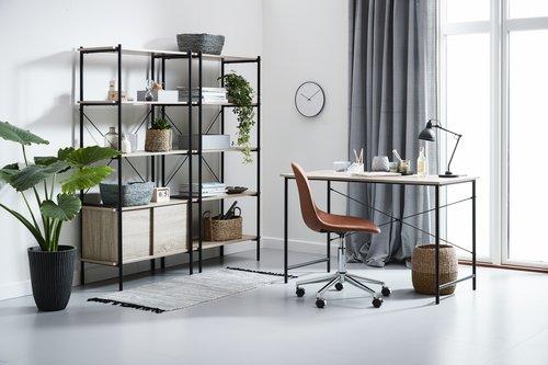 Krzesło biurowe JONSTRUP koniak/chrom