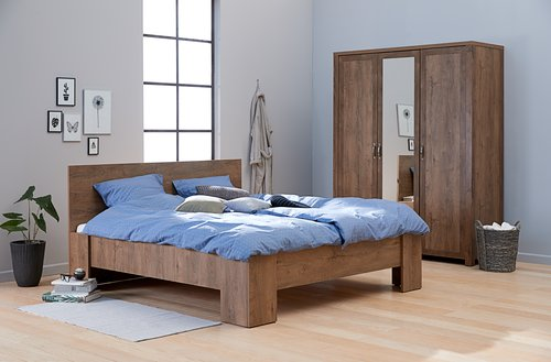 Ram kreveta VEDDE 160x200 divlji hrast