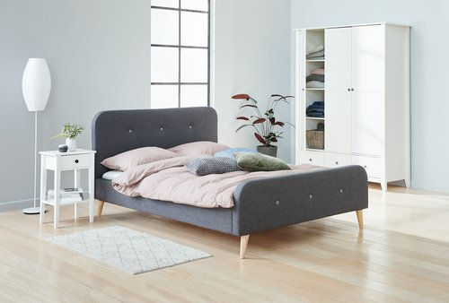Sänkykehikko KONGSBERG 160x200 harmaa