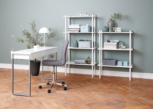 Desk STEGE 40x120 white high gloss