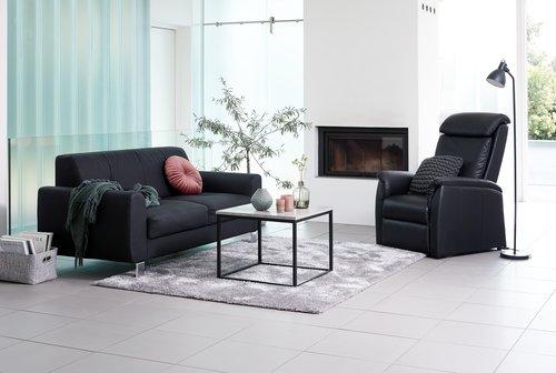 Sarokasztal DOKKEDAL 60x60 szürke/fekete