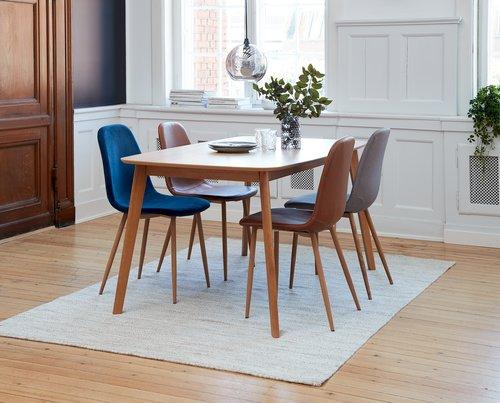 Spisebordsstol JONSTRUP grå/eg