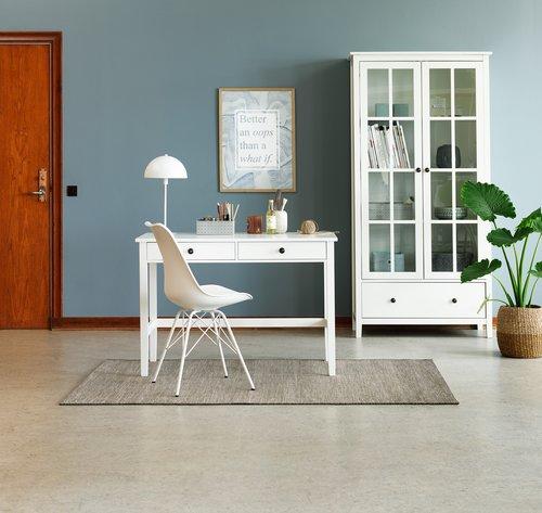 Krzesło KLARUP skóra ekologiczna białe