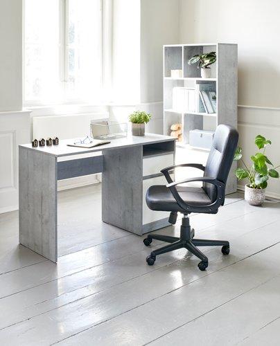 Skrivbord BILLUND 54x120 betong/vit