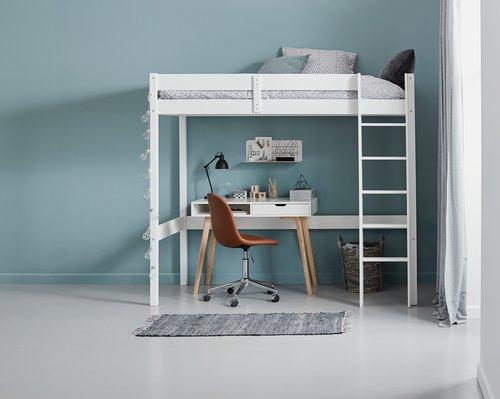 Písací stôl TAMHOLT 50x100 biela/dub
