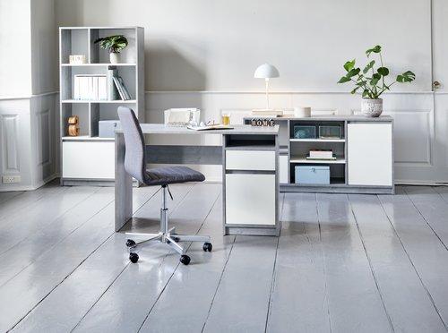 Бюро BILLUND 54x120 см бетон/бяло