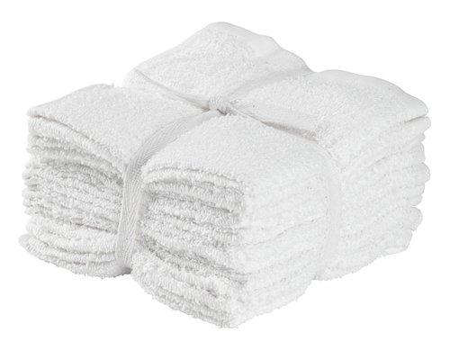 Πετσέτα προσώπου FLISBY 10τμχ/πκ λευκό