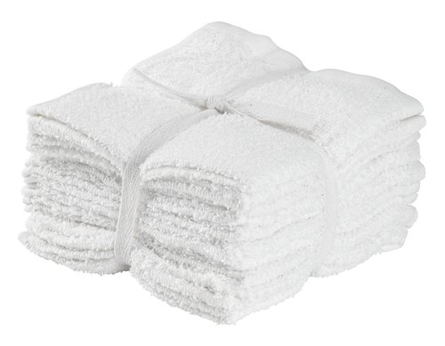 Tvättlapp FLISBY 10st/pk vit