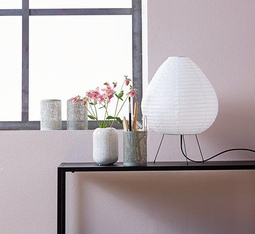Vase TRISTAN D9xH13cm white