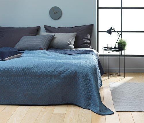 Bed throw ROSENTRE 220x240 blue