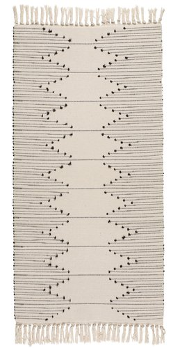 Rug VILLIN 70x140 black lines off-white