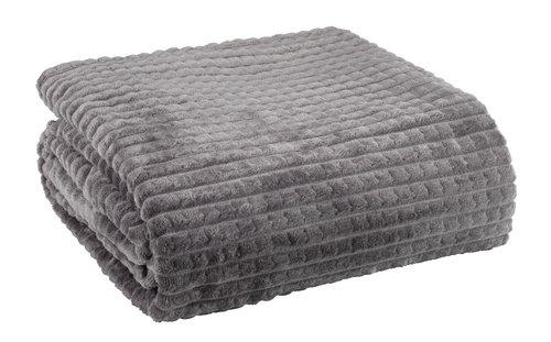 Plaid HAGTORN fleece 140x200 grå