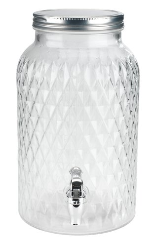 Beholder GLASS m/kran 5,5L glass
